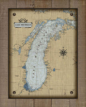 Load image into Gallery viewer, Lake Michigan Nautical Chart - On 100% Natural Linen