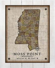 Load image into Gallery viewer, Moss Point Mississippi Vintage Design - On 100% Natural Linen