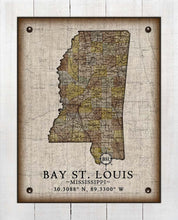 Load image into Gallery viewer, Bay St Louis Mississippi Vintage Design - On 100% Natural Linen