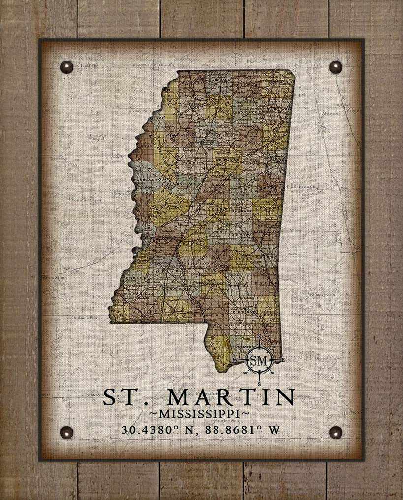 St Martin Vintage Design - On 100% Natural Linen