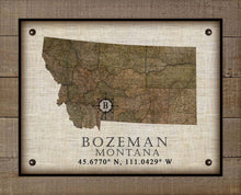 Load image into Gallery viewer, Bozeman Montana Vintage Design - On 100% Natural Linen