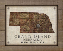 Load image into Gallery viewer, Grand Island Nebraska Vintage Design - On 100% Natural Linen