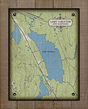 Load image into Gallery viewer, Lake Tarleton New Hampshire Map - On 100% Natural Linen