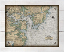 Load image into Gallery viewer, Portsmouth New Hampshire Nautical Chart On 100% Natural Linen