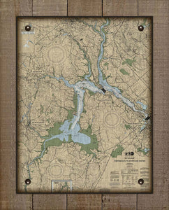 Dover to Portsmouth New Hampshire Nautical Chart - On 100% Natural Linen