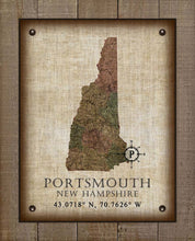 Load image into Gallery viewer, Portsmouth New Hampshire Vintage Design - On 100% Natural Linen