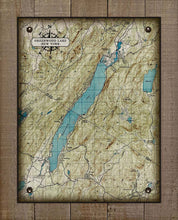 Load image into Gallery viewer, Greenwood Lake Map - On 100% Natural Linen
