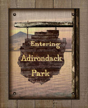 Load image into Gallery viewer, Adirondack Park Welcom Sign - On 100% Linen