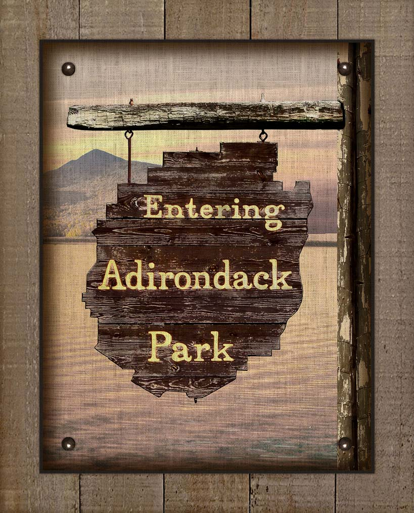 Copy of Adirondack Park Welcom Sign (2) - On 100% Linen