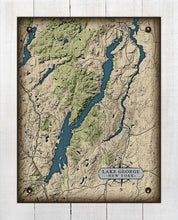 Load image into Gallery viewer, Lake George New York Map - On 100% Natural Linen