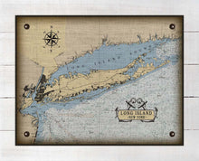 Load image into Gallery viewer, Long Island New York Nautical Chart - On 100% Natural Linen