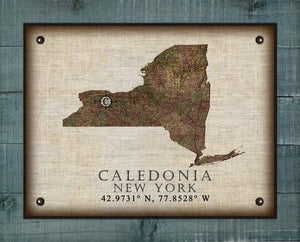 Caledonia New York Vintage Design - On 100% Natural Linen