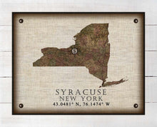 Load image into Gallery viewer, Syracuse New York Vintage Design - On 100% Natural Linen