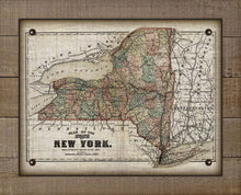 Load image into Gallery viewer, 1800s New York State Map - On 100% Natural Linen