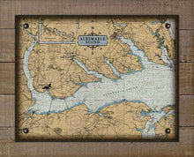 Load image into Gallery viewer, Albemarle Sound North Carolina Nautical Chart - On 100% Natural Linen