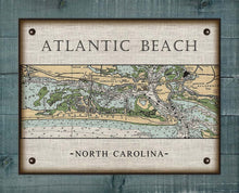 Load image into Gallery viewer, Atlantic Beach North Carolina Nautical Chart - On 100% Natural Linen