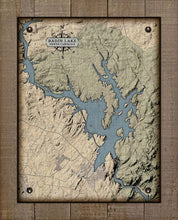 Load image into Gallery viewer, Badin Lake North Carolina Map Design - On 100% Natural Linen