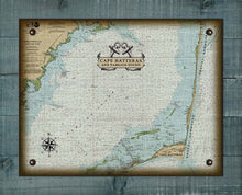 Load image into Gallery viewer, Outer Banks North Carolina (Corolla to Hatteras) Nautical Chart - On 100% Natural Linen