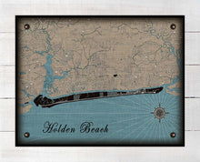 Load image into Gallery viewer, Holden Beach North Carolina Map Design - On 100% Natural Linen