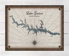 Load image into Gallery viewer, Lake Gaston North Carolina Map Design  - On 100% Natural Linen