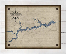 Load image into Gallery viewer, Lake Hickory North Carolina Map Design (2) - On 100% Natural Linen