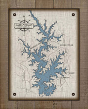 Load image into Gallery viewer, Lake Norman North Carolina Map Design (2)  - On 100% Natural Linen