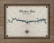 Load image into Gallery viewer, Rhodhiss Lake North Carolina Map Design   - On 100% Natural Linen