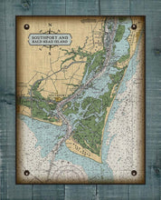 Load image into Gallery viewer, Southport & Bald Head Island North Carolina Nautical Chart - On 100% Natural Linen