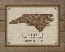 Load image into Gallery viewer, Concord North Carolina Vintage Design - On 100% Natural Linen