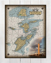 Load image into Gallery viewer, Put-In-Bay & Bass Islands Ohio Nautical Chart (2) - On 100% Natural Linen