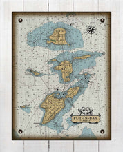 Load image into Gallery viewer, Copy of Put-In-Bay & Bass Islands Ohio Nautical Chart (3) - On 100% Natural Linen