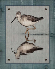 Load image into Gallery viewer, Dowitcher Shore Bird  - On 100% Natural Linen