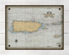 Load image into Gallery viewer, Puerto Rico Nautical Chart - On 100% Natural Linen