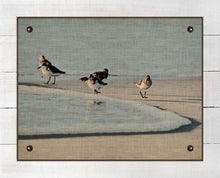 Load image into Gallery viewer, Sandpipers - On 100% Natural Linen