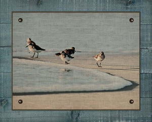 Sandpipers - On 100% Natural Linen