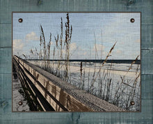 Load image into Gallery viewer, Sea Oats And Railing - On 100% Natural Linen