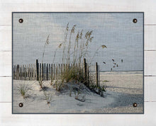 Load image into Gallery viewer, Sea Oats And Fence - On 100% Natural Linen