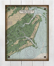 Load image into Gallery viewer, Harbor Island Nautical Chart - On 100% Natural Linen