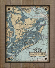 Load image into Gallery viewer, James Island South Carolina Nautical Chart - On 100% Natural Linen