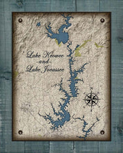 Load image into Gallery viewer, Lake Keowee & Jocassee South Carolina Map Design - On 100% Natural Linen