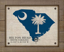 Load image into Gallery viewer, Hilton Head South Carolina Design - On 100% Natural Linen