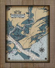 Load image into Gallery viewer, Seabrook Island South Carolina Nautical Chart - On 100% Natural Linen