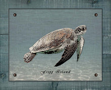 Load image into Gallery viewer, Fripp Island Sea Turtle - On 100% Linen