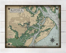 Load image into Gallery viewer, Bluffton South Carolina Nautical Chart - On 100% Natural Linen