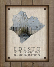 Load image into Gallery viewer, Edisto Island Silhouette Sea Oats Design - On 100% Natural Linen