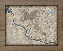 Load image into Gallery viewer, Fort Mill & Catawba River South Carolina Map - On 100% Natural Linen