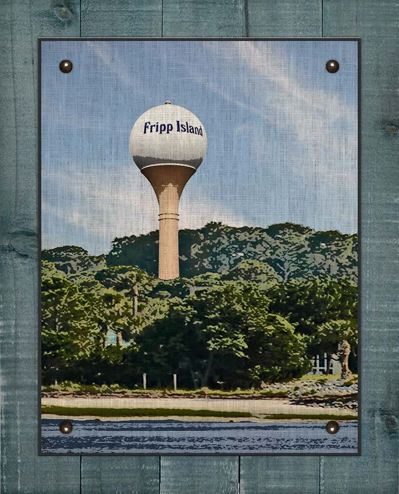 Fripp Island Water Tower - On 100% Linen