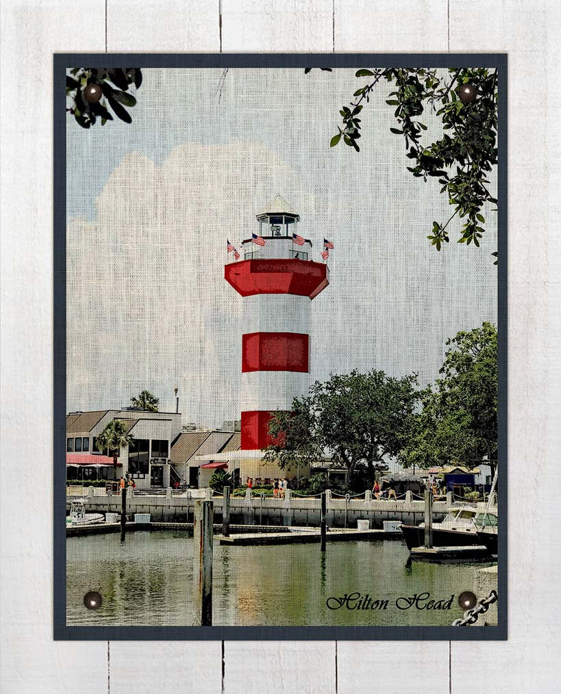 Hilton Head Lighthouse - On 100% Linen