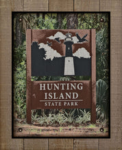 Load image into Gallery viewer, Hunting Island - South Carolina - Welcome Sign  - On 100% Natural Linen
