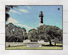 Load image into Gallery viewer, Hunting Island Lighthouse - On 100% Linen